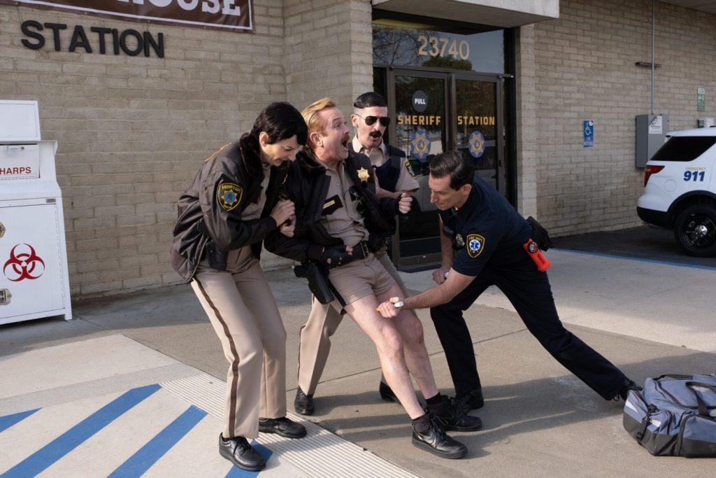 Reno 911! on Quibi, Thomas Lennon as Officer Dangle